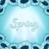 Spring awakening poster — Stock Vector