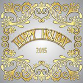 Happy holiday greeting card — Stock Vector