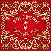 Christmas greetings postcard — Stock Vector