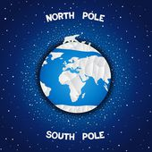 North and south poles — Stock Vector