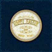 Vintage wishes label — Stock Vector