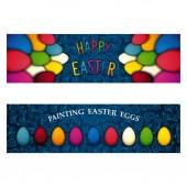 Happy Easter banner — Stock Vector