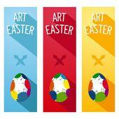 Art Easter concept flyer — Stock Vector