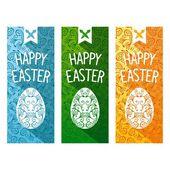 Easter flat flyer — Stock Vector