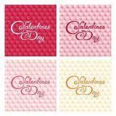 Gentle valentines design — Stock Vector