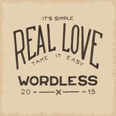 Real love wordless — Stock Vector