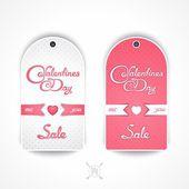 Праздничные распродажи на день Святого Валентина — Cтоковый вектор