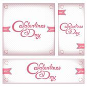Retro banners and flyers for Valentine's day — Stock Vector