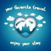 Your favorite travel — Stock Vector