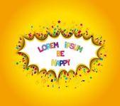 Cheerful bright slapstick — Stock Vector