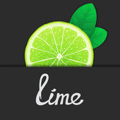 Just of lime — Stock Vector