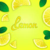 Fruity lemon background — Stock Vector