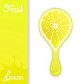 Lemon crush juice — Stock Vector