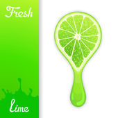 Lime crush juice — Stock Vector