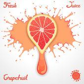 Grapefruit juice — Stock Vector