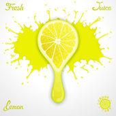 Lemon juice — Stock Vector