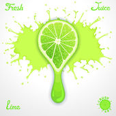 Lime juice — Stock Vector
