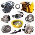 Постер, плакат: Two motors and automotive parts