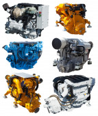 Set of engines. Isolated over white  — Stock Photo