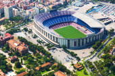 Largest stadium of Barcelona — Stock Photo