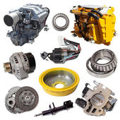 Two motors and  automotive parts. — Stock Photo