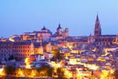 View of evening Toledo — Stock Photo