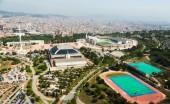 Olimpic area of Montjuic — Stock Photo