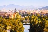 Pamplona with bridge — Stock Photo