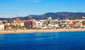 Badalona mediterranean sea — Stock Photo