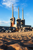 Chimneys of neglected power  station  — Stock Photo