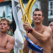 Постер, плакат: Appy guys at Gay pride parade in Sitges