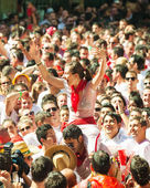 Mob in Pamplona — Stock Photo