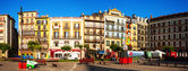 Площі дель Кастільо напрямку pamplona — Stok fotoğraf