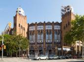 Exterior of Plaza Monumental de Barcelona — Stock Photo