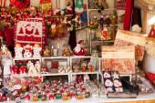 Kiosk with traditional Christmas gifts  — Stock Photo