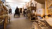 Carri funebri d'epoca nel museo di catafalco — Foto Stock