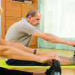 Mature couple doing exercises — Stock Photo #52527321