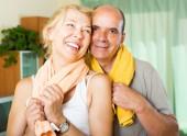Elderly couple after training — Stock Photo