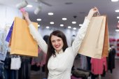 Young womat at the clothes store — Stock Photo