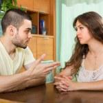 Couple having serious talking — Stock Photo #52539171