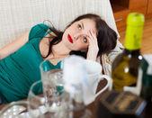 Woman having hangover  — Stock Photo
