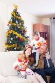 Family at Christmas — Stock Photo