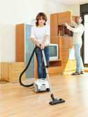 Friendly couple  doing housework — Foto de Stock