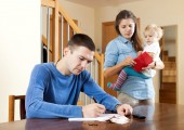 Financial problems in family — Stock Photo