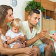 Couple scolding little daughter — Stock Photo #52540481