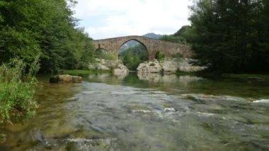 Bridge over Llobregat river — Stock Video