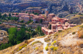 Spanish mountains town in sunny day. — Stock Photo