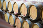 Rows of   wooden barrels  — Stock Photo