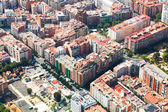 Aerial view of houses at residential district  — Stock Photo