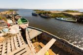 Old  boats at delta of Ebro river  — Stockfoto